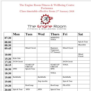 Engine Room Gym Portumna Timetable